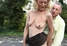 Layman open-air blowjob