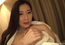 Tenebrous hunger haired Japanese housewife Sakai Eriko plays almost a horseshit