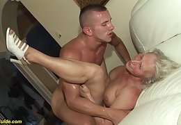 horny 76 years old granny gives a wikd tit fuck and innovative deepthroat for her young toyboy