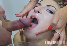 Massive Facial Bukkake Cumshots for european slut