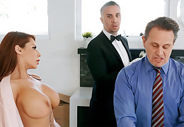Horny butler is accessible at hand anal fuck housewife