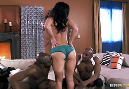 Two large raven dicks drills all three holes be proper of Jayden Jaymes