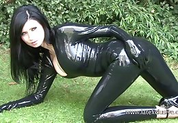 Stunning amateur brunette more latex stuff and her kinky outdoor just