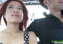 Gung-ho picked up Thai nympho May gets nude and treats man with a BJ