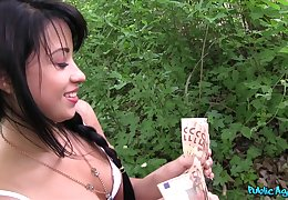 Sluttish Taissia Shanti boffed and creampied nigh the forest