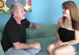 Chubby redhead nympho babbe wants his superannuated man dick