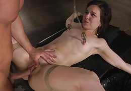 Botheration fucked approximately filial scenes be required of tits clamping bondage